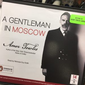 "Cover of the book on CD of Amor Towles' ""A Gentleman in Moscow"""