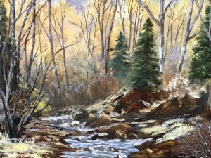 Oil painting titled A Secret Place by Dixie Mills