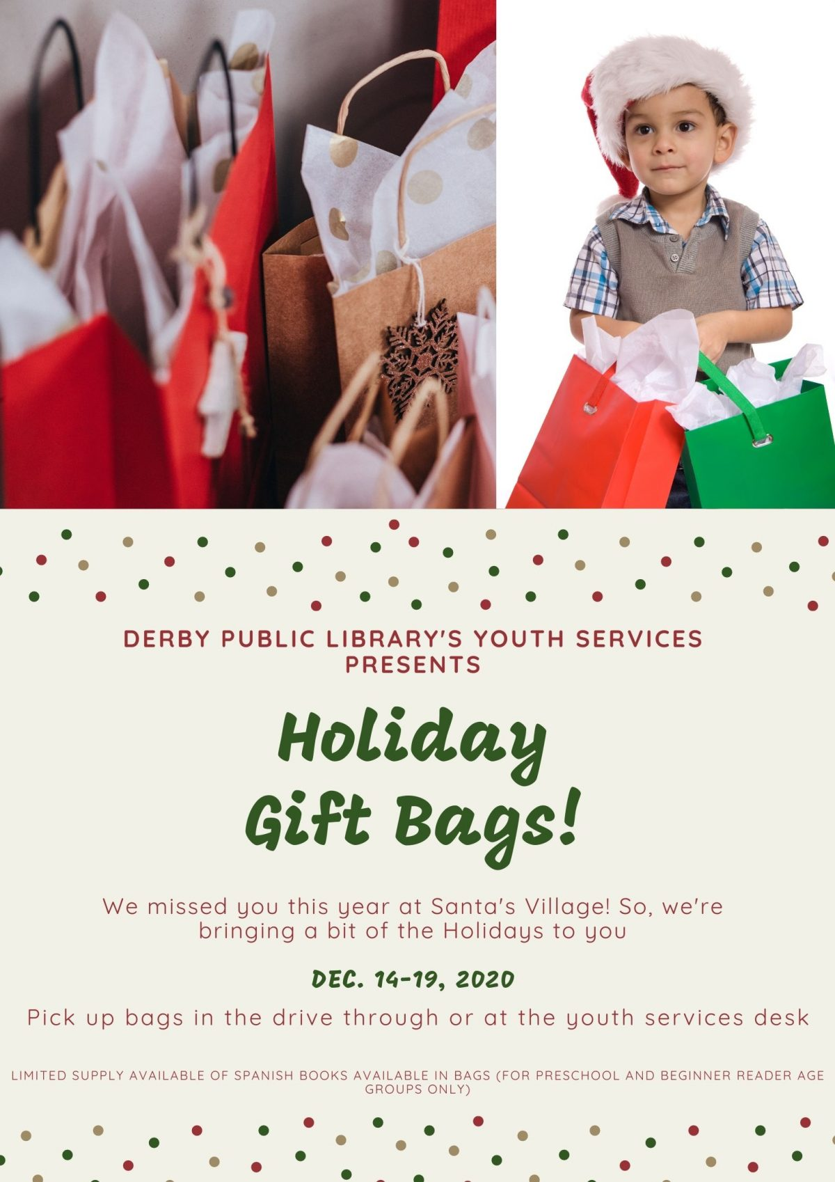 Holiday Bags for Children at the Library